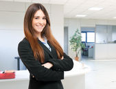 Beautiful businesswoman portrait in office — Stock Photo