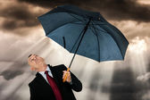 Businessman under a beautiful sky — Stock Photo