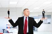 Businessman choosing a new employee — Stock Photo