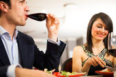 Couple having dinner — Stock Photo