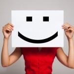 Smiling emoticon — Stock Photo