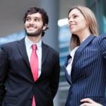 empresarios mirando hacia el futuro — Foto de Stock