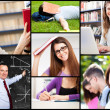 School collage — Stock Photo