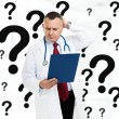 Stock Photo: Doctor in thought