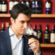 Sommelier tasting wine — Stock Photo