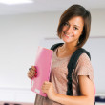 Beautiful smiling student — Stock Photo