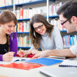 Stock Photo: Students in a library