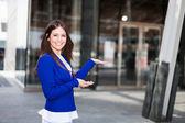 Business woman - Presentation — Stock Photo
