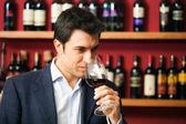 Sommelier tasting wine — Stock Photo