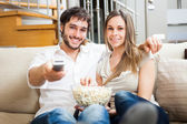 Couple watching a movie — Stock Photo