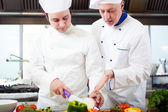 Chefs at work — Stock Photo