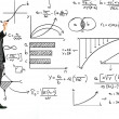 Stockfoto: Businessmwriting math