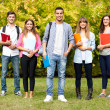 Outdoor portrait of a smiling students — Foto Stock