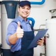 Smiling plumber — Stock Photo