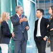 Business partners talking in an urban setting — Stock Photo