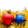 Two Christmas balls — Stock Photo