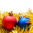 Two Christmas balls — Foto de Stock