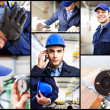 Composition of engineering related images — Stock Photo