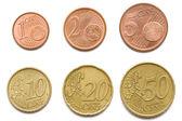 Complete set van eurocent munten — Stockfoto