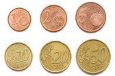 Komplett uppsättning eurocent mynt — Stockfoto