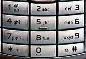 Cellular keypad background — Stock Photo