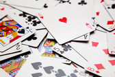 Many playing cards — Stock Photo