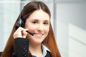 Güzel müşteri temsilcisi — Stok fotoğraf