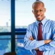 Businessman with hands folded — Stock Photo #34299497