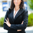Stock Photo: Successful young businesswoman portrait