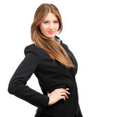 Businesswoman with hand on hip — Stock Photo