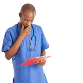 African young doctor full length — Stock Photo
