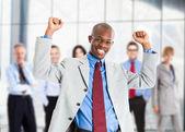 Happy businessman — Stock Photo