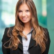 Foto Stock: Smiling businesswoman