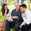 Business people using tablet — Stock Photo #34714693