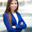 Beautiful young female executive — Stock Photo