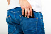Man taking his wallet in his pocket — Stock Photo