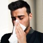 Man having a cold — Stock Photo
