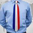 businessman with french necktie — Stock Photo