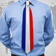 Stock Photo: Businessmwith French necktie