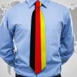 zakenman met Duitse stropdas — Stockfoto #35173437
