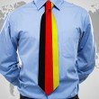 Stock Photo: Businessmwith Germnecktie