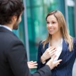 Business partners talking — Stock Photo