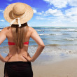 Woman in a beach — Stockfoto