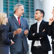 Group of business people talking — Stock Photo