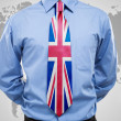 Businessmwith UK necktie — Stock Photo #35173541