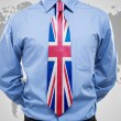 Stock Photo: Businessmwith UK necktie