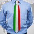 businessman with italian necktie — Stock Photo