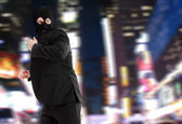 Thief wearing a mask — Stock Photo