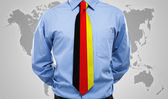 Businessman with German necktie — Stock Photo