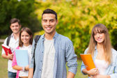 Groups of college students outdoor — Stock Photo
